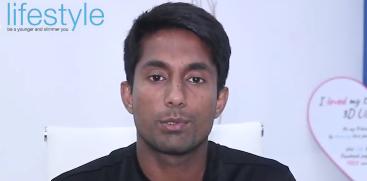 Pakistani Hockey Team player Tauseeq Arshad testifies to results he experienced with his RF & HIFU